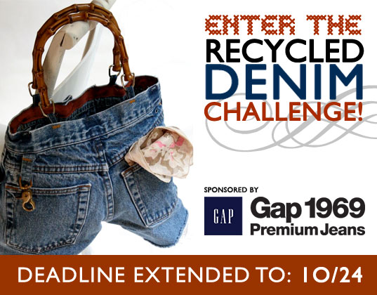 Contests, denim challenge, Denim recycling, Denim upcycling, eco-fashion, eco-friendly denim, eco-friendly jeans, Ecouterre contest, GAP, Gap 1969 Stream, Gap Style Stream Gap Stylestream, green fashion, green jeans, recycled clothing, recycled denim, Recycled Denim Challenge, recycled fashion, recycled jeans, recycled your jeans, sustainable style, upcycled clothing, upcycled denim, upcycled fashion, upcycled jeans
