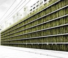 Grass Coated Green-Roofed Parking Garage Concept for Tokyo