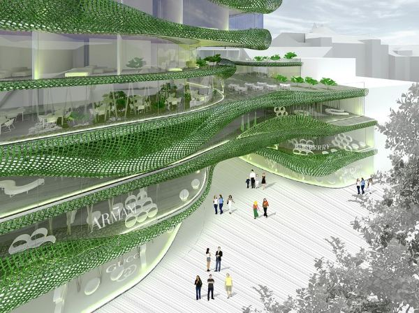 terraced building, mixed-use development, living facade, slovenia, ofis arhitekti,