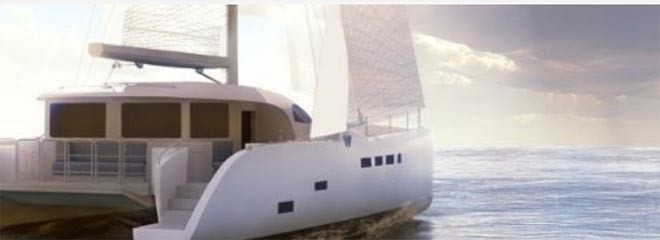Electric Marine Propulsion, hybrid-electric catamaran, hybrid-electric yacht, International Battery, Tang, wind energy, Wind Power, wind powered yacht