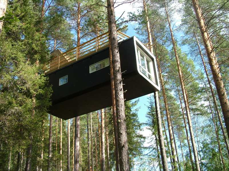 treehotel, sweden, prefab hotel, green building, sustainable architecture, eco hotel
