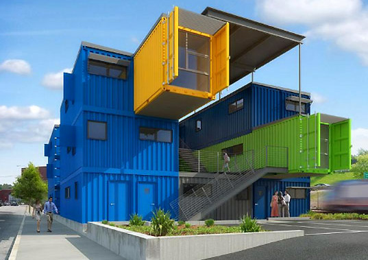 BOX Office is a vibrant office building made of shipping containers that is  also designed to maximize productivity by providing a safe, comfy  environment ...