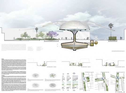 Oasis sprouting solar umbrellas for los angeles for Los angeles innovation consultants