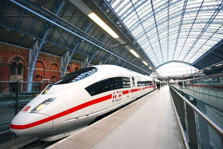 bullet train, deutsche bahn, high-speed rail, train, london, frankfurt, amsterdam