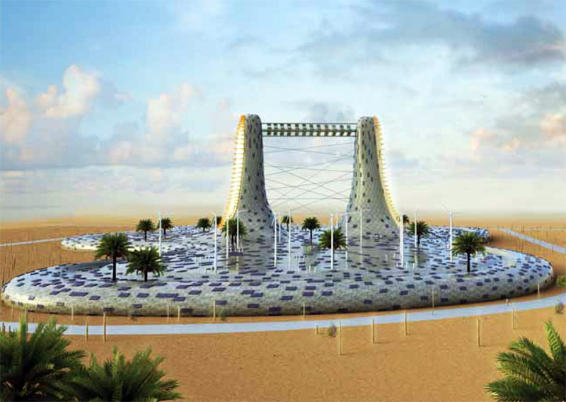 sustainable design, green design, land art generator, layers of dubai, green architecture, sustainable building, renewable enery