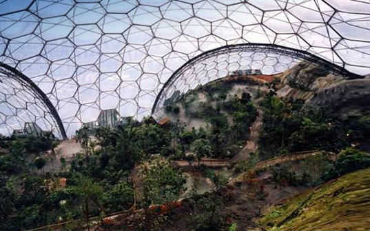 Eden Project Giant Bubble Biomes Form The World S Largest