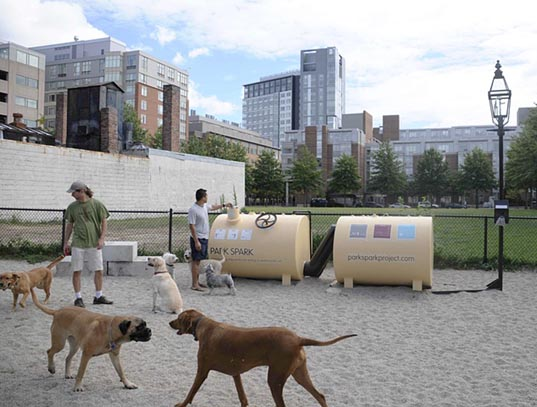 Cambridge, MIT, Spark Park Project, sustainable design, green design, poo power, renewable energy, dog poo power