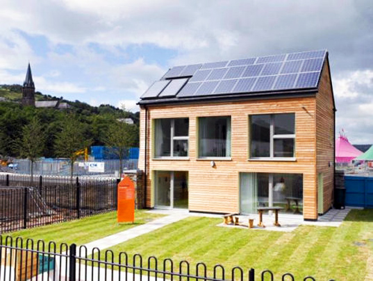 Uk's first zero carbon passive house, uk passive house, larch house, bere architects, national eisteddford, zero carbon home, sustainable energy