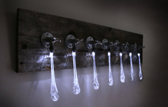 Liquid Led Lights Made From Recycled Plumbing Hardware