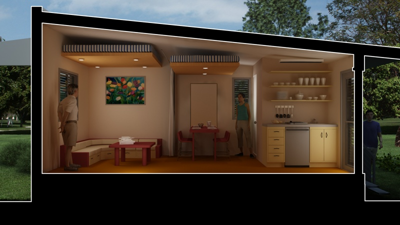 mergency housing, prefab housing, micro house, temporary housing, green temporary housing, Nano house system, rain catchment
