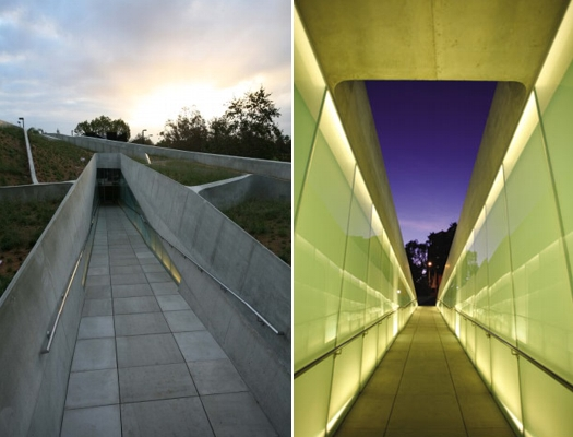 Holocaust Museum, LA Halocaust Mermorial, greenroof, park roof, green museum, LA green building,