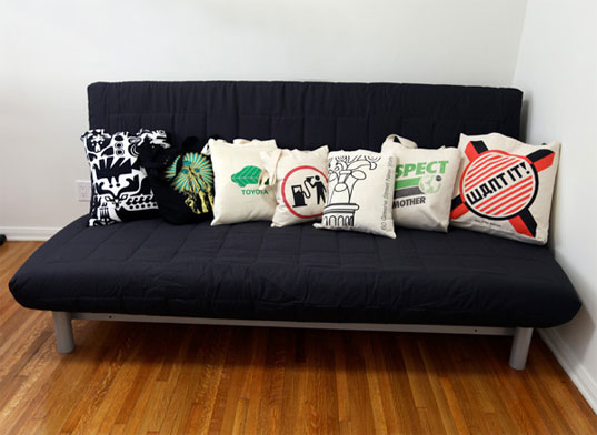 eco-rehash: how to make recycled throw pillows in a flash Unique Sofa Pillows