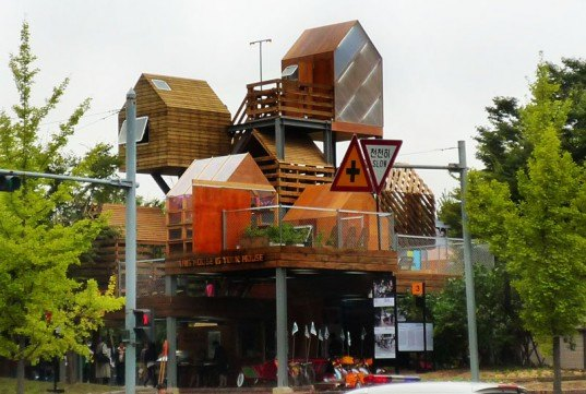 raumlaborkorea, anyang, korea, treehouse, green space, public garden, green architecture, eco architecture, sustainable architecture, vertical village, openhouse, vertical farm, tree house