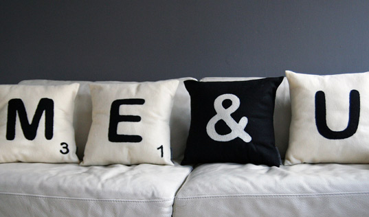 Comfy Recycled Felt Cushions Look Like Giant Scrabble Pieces