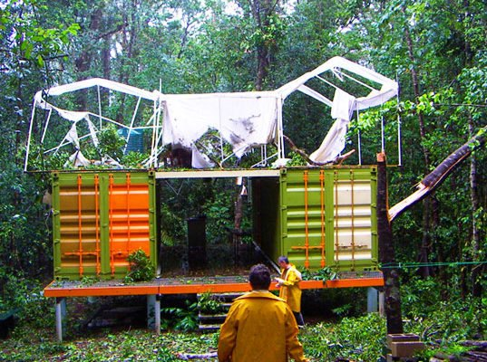 Shipping Container Homes Survives Category 5 Cyclone