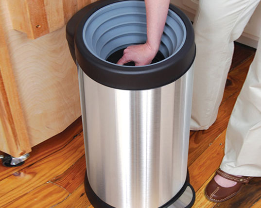 Smash can a trash bin that compacts your waste for Household waste design