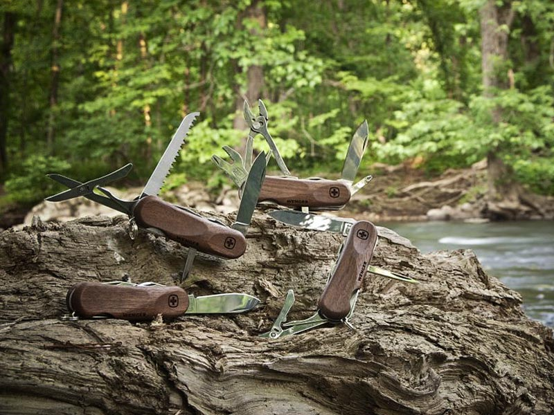 Wenger, EvoWood, Swiss Army Knife, sustainable design, green design, green pocket knife, sustainably harvested wood, certified wood