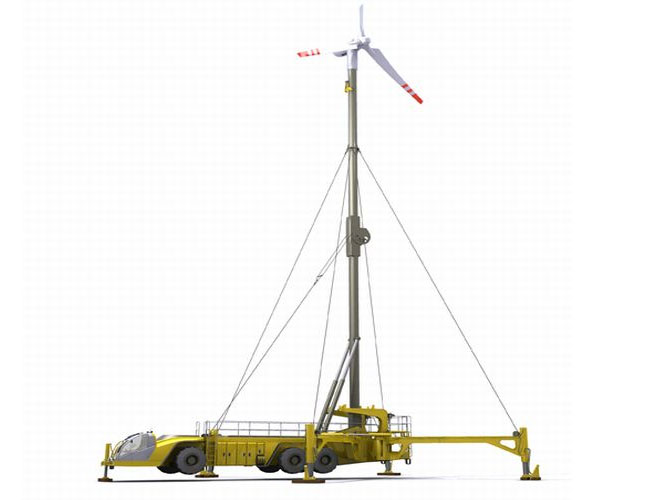 mobile wind energy, mobile wind turbine, pope design, pope design mobile wind turbine, pope design hybrid carrier