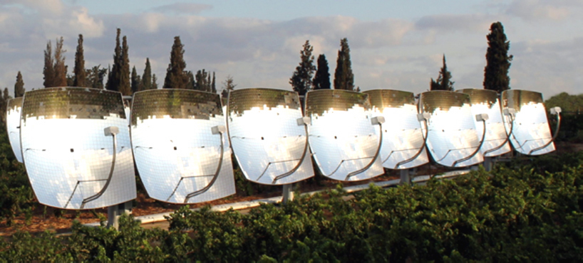 zenithsolar, 3rd generation CHP solar energy generator, solar z20 zenithsolar, zenithsolar solar generator, israel solar energy, Ezri Tarazi zenithsolar, Bezalel Academy of Art and Design,
