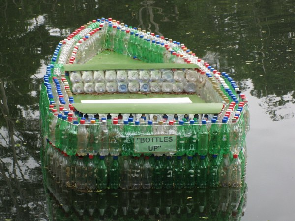 bottles up, rain tree lodge, plastic bottle boat, bottle boat, recycled materials, fiji