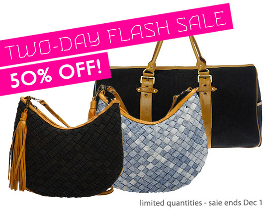 Flash Sale: 50% Off Chance Recycled Denim Handbags! | Inhabitat ...