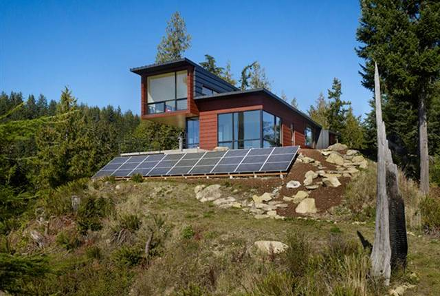 Chuckanut Ridge, prentiss architects, green home, off grid, rainwater collection, eco home