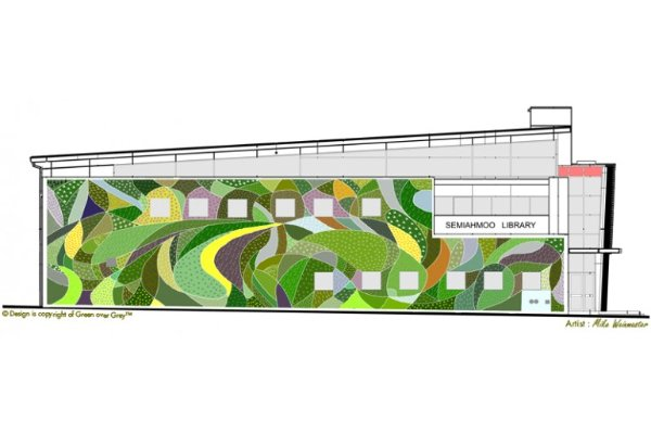 Great The Living Wall Covers One Whole Side Of The Concrete Library And RCMP  Facility With A Spectacular Design Featuring A Host Of Species Including  Ground ... Amazing Ideas
