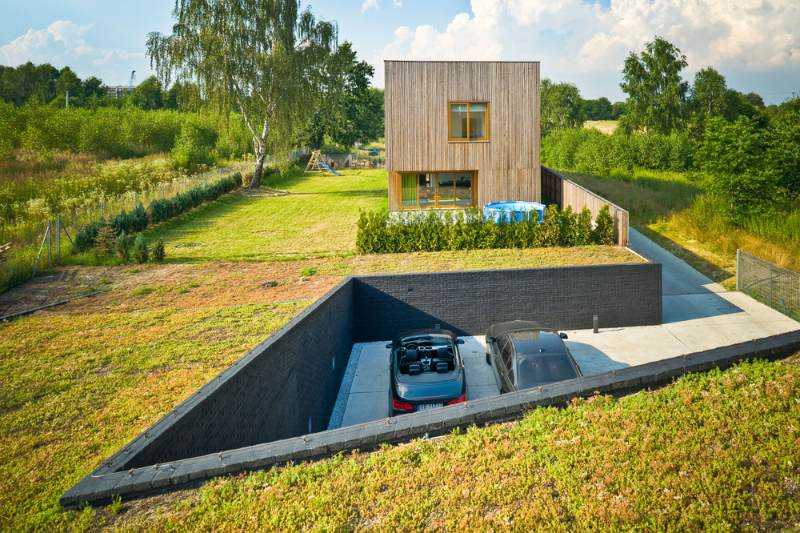 Jojko+Nawrocki Architekci, green roof, eco houses, green roofed home, green design, sustainable architecture