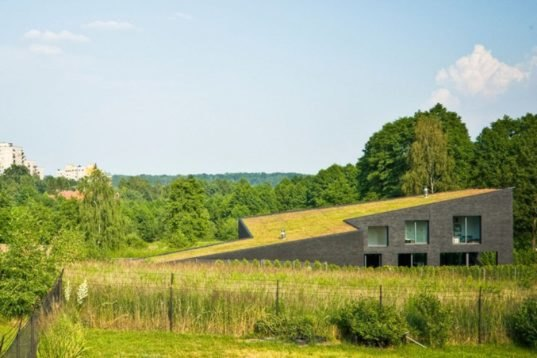 Modern Green Roofed Homes Blend Into Poland S Countryside