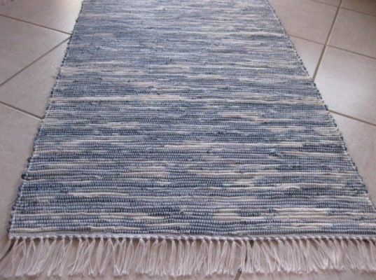 Woven Rug Made From Recycled Jeans