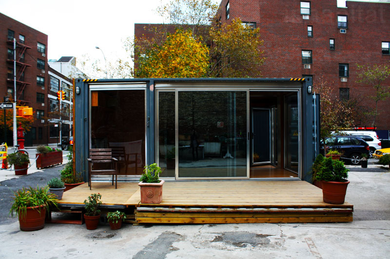 Shipping Container Prefab Home Pops Up in NYC's West Village ...