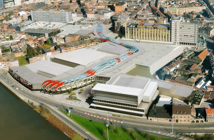 Médiacité, Liège, Belgium, Ron Arad, shopping center, BREEAM, daylighting, ETFE