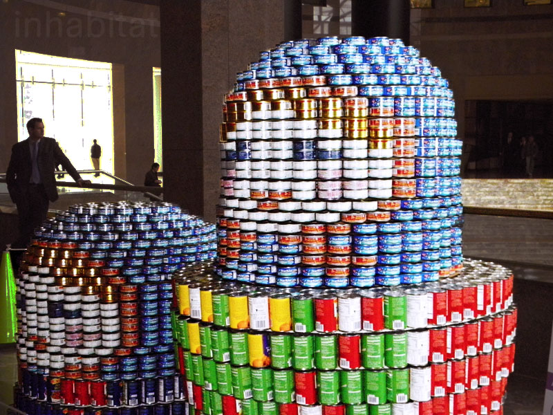 New Photos Canstruction Sculptures Made Entirely From