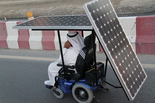 haidar taleb masdar, solar powered wheelchair, haidar taleb, masdar solar powered wheel chair, haidar taleb uae, haidar taleb record breaker,