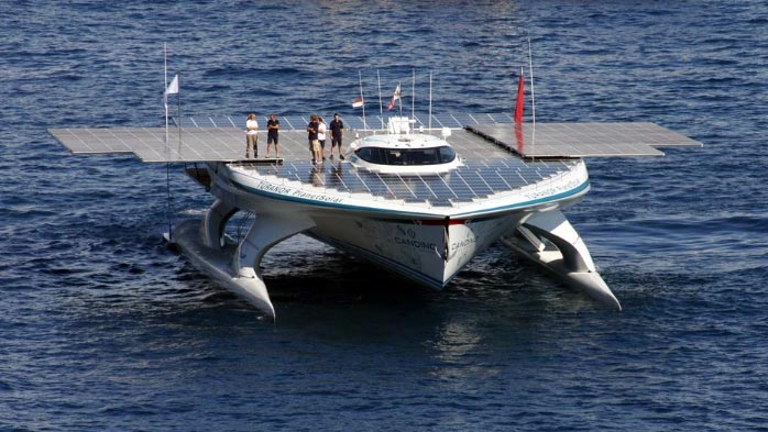 world's largest solar powered boat, TÛRANOR PlanetSolar, TÛRANOR PlanetSolar world, TÛRANOR PlanetSolae circumnavigation, TÛRANOR PlanetSolar solar