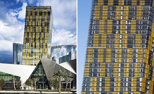 veer towers, citycenter, helmut jahn, eco tower, green building, sustainable architecture, las vegas