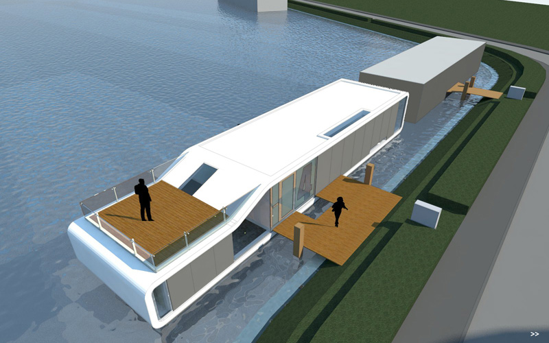 Beautiful Beautiful Modern Water Villa Sets Sail In Amsterdam | Inhabitat   Green  Design, Innovation, Architecture, Green Building Awesome Ideas
