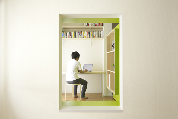 yuko shibata, switch, moveable walls, home office, green design, small space living