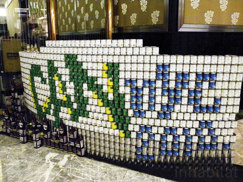 american institute of architects, Canstruction, Community Food Bank of New Jersey, exhibitions, Green Design Competitions, Prudential Center, Society for Design Administration, aia, can artwork, temporary art, eco art, green art, green design, canstruction