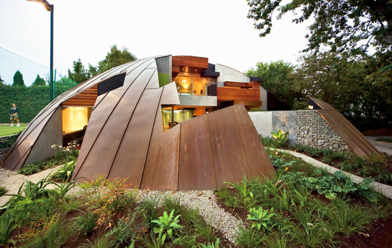 Copper Dome House is a Puzzling Garden Home Inhabitat Green