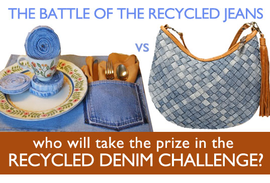 Recycled Denim Challenge, sustainable design, ecouterre, gap, recycled denim, diy design, recycled materials, sustainable fashion, green style