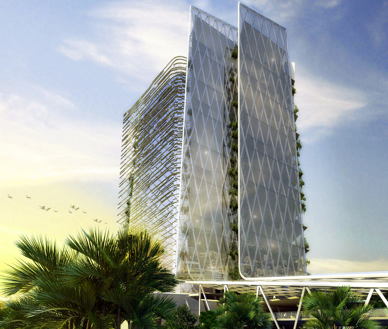 ITC Commercial Tower, HTC architects, green building,natural cooling, green terraces, sustainable building, leed platnium, India green building