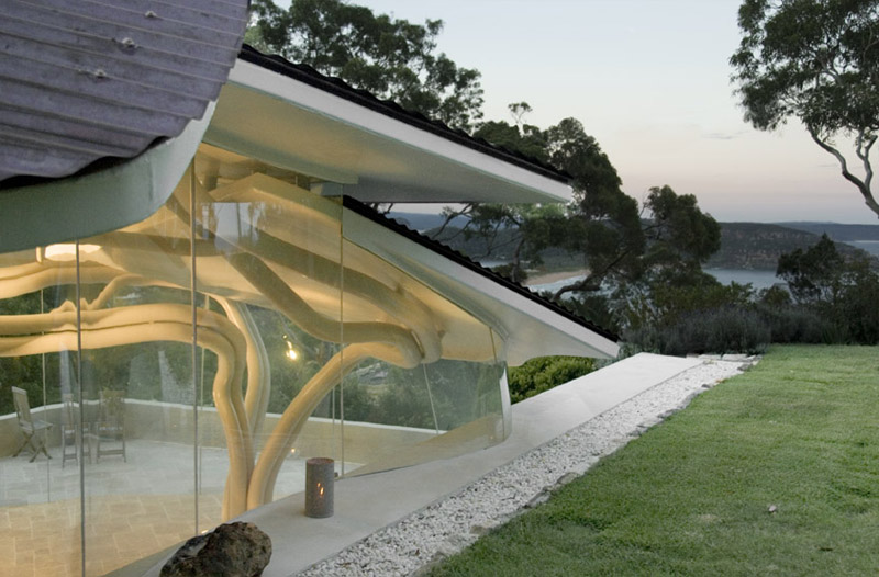 Fantastic Lovely Leaf House Topped By A Crown Of Copper Leaves Download Free Architecture Designs Scobabritishbridgeorg