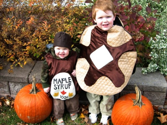 baby pancake and syrup costume