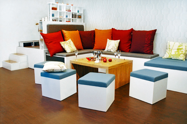 matroshka, tiny space design, space saving furniture, nesting furniture, small house design, green design, compact living