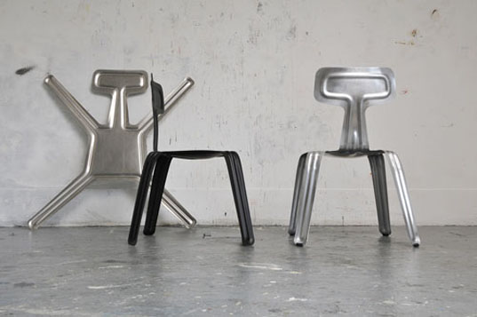 Pressed chair, harry thaler, flat pack chairs, flat pack furniture, lightweight chairs, bendable chairs, tent london