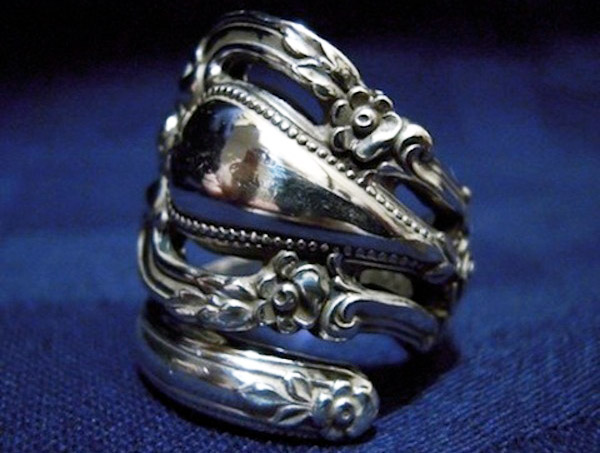 spoon ring, recycled silverware, silverware jewelry, sustainable jewelry, Marchello Art