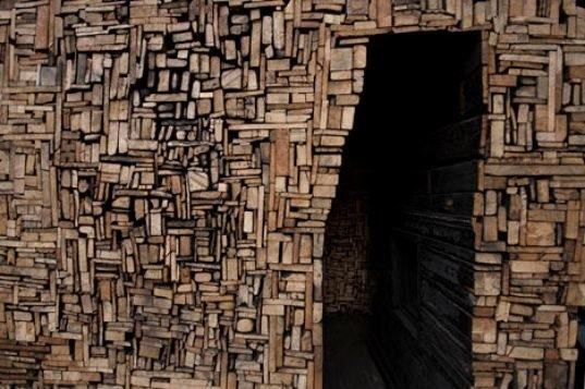 Burned down building transformed into intricate art space for Salvaged building materials los angeles