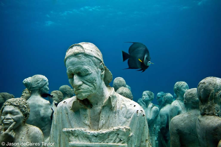 """""""underwater sculpture"""", """"artificial reef"""", """"marine life"""", Mexico, """"Jason deCaires Taylor"""""""