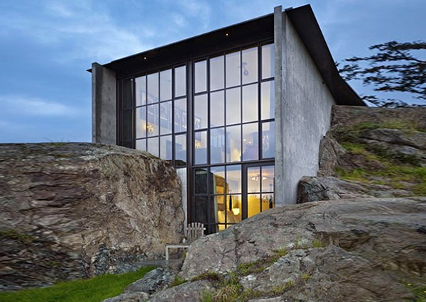 the pierre, olsen kundig architects, san juan islands, local materials, green roof, green architecture, eco architecture, sustainable architecture, green design